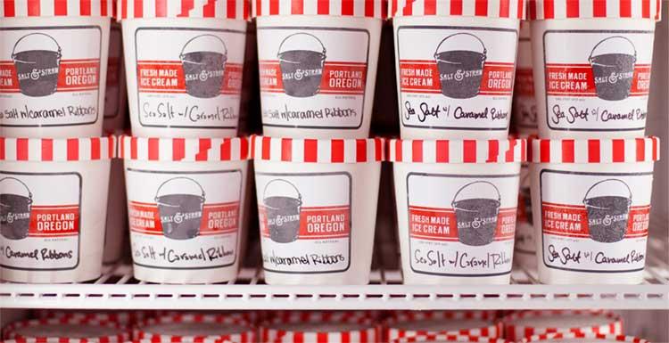 Salt & Straw Ice Cream Cartons