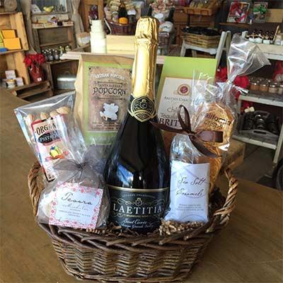 Santa Barbara Laetitia Brut Cuvee Sparkling Wine Gift Basket