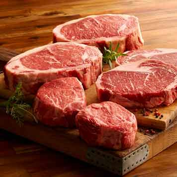 Order Steaks Online,  Angus Steak Family Pack from Meat the Butchers