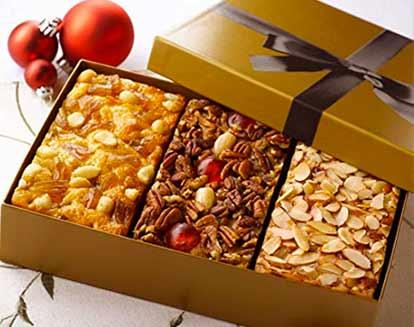 Trio of Fruitcakes: Amaretto Fruitcake, Pineapple and Macadamia Nut Fruitcake and Grandma's Fruit and Nut Cake