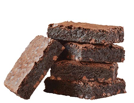 Stack of Rich Fudgy Chocolate Brownies by Baked