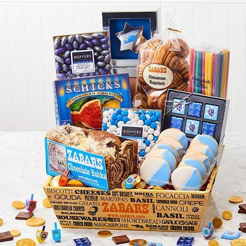 Hanukkah Gift Basket from Zabars, Eight Nights of Hanukkah