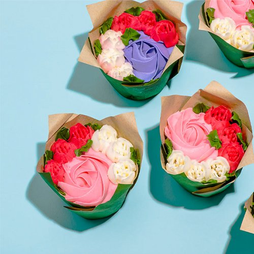 Mothers Day Gift of Floral Cupcakes