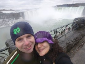 Us two in front of Horseshoe falls Niagara Falls Ontario