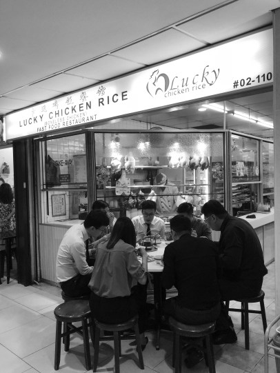 Lucky Chicken Rice en Lucky Plaza