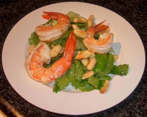 asian prawn salad