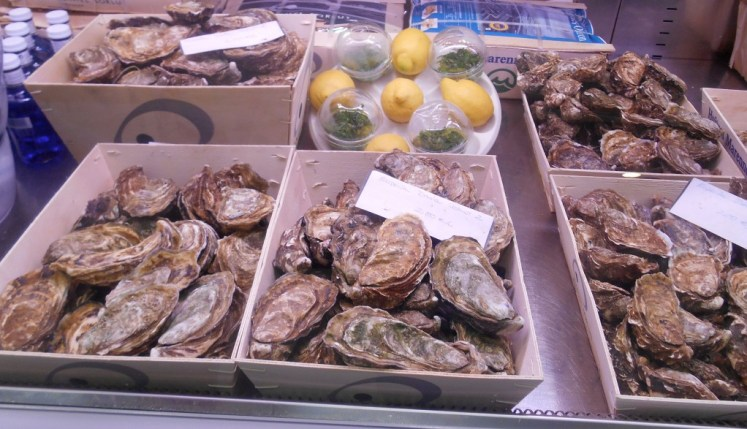 First stop, oysters and Cava