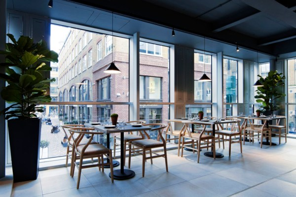 The light-filled, spacious restaurant