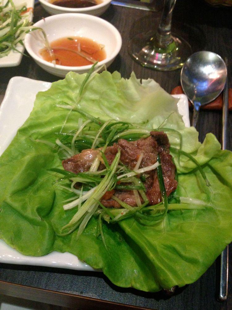 meat in lettuce