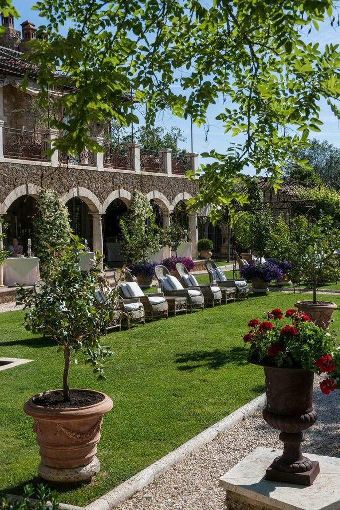 The stylish manor house is the heart of Borgo