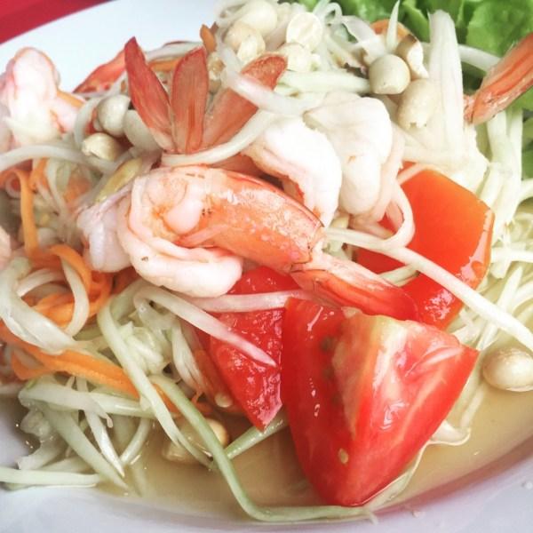 papaya with shrimp