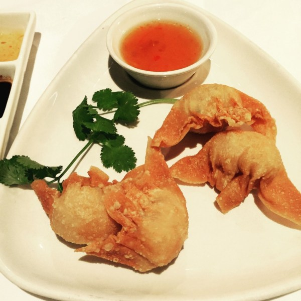 Plump and crispy prawn dumplings