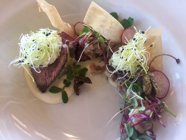 South African vitello tonnato in the Winelands