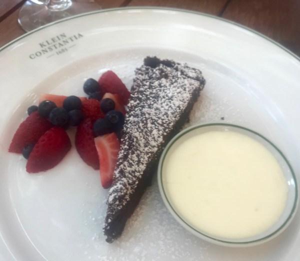 Klein Constantia: Chocolate torte