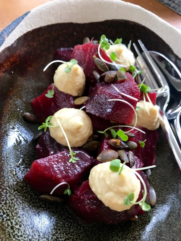 Terroir: beetroot and hummus
