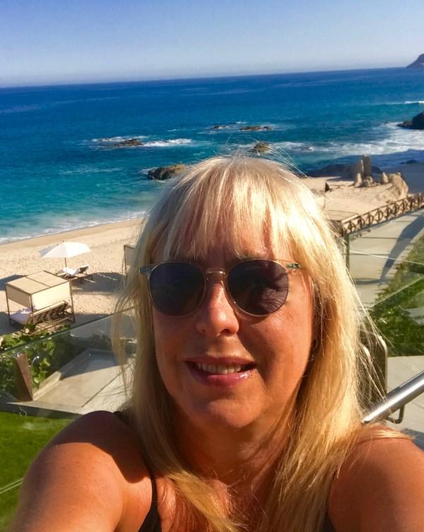 Grand Velas: Beach selfie