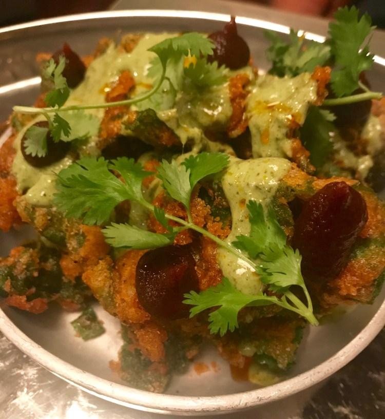 Thali: Spinach bhaji