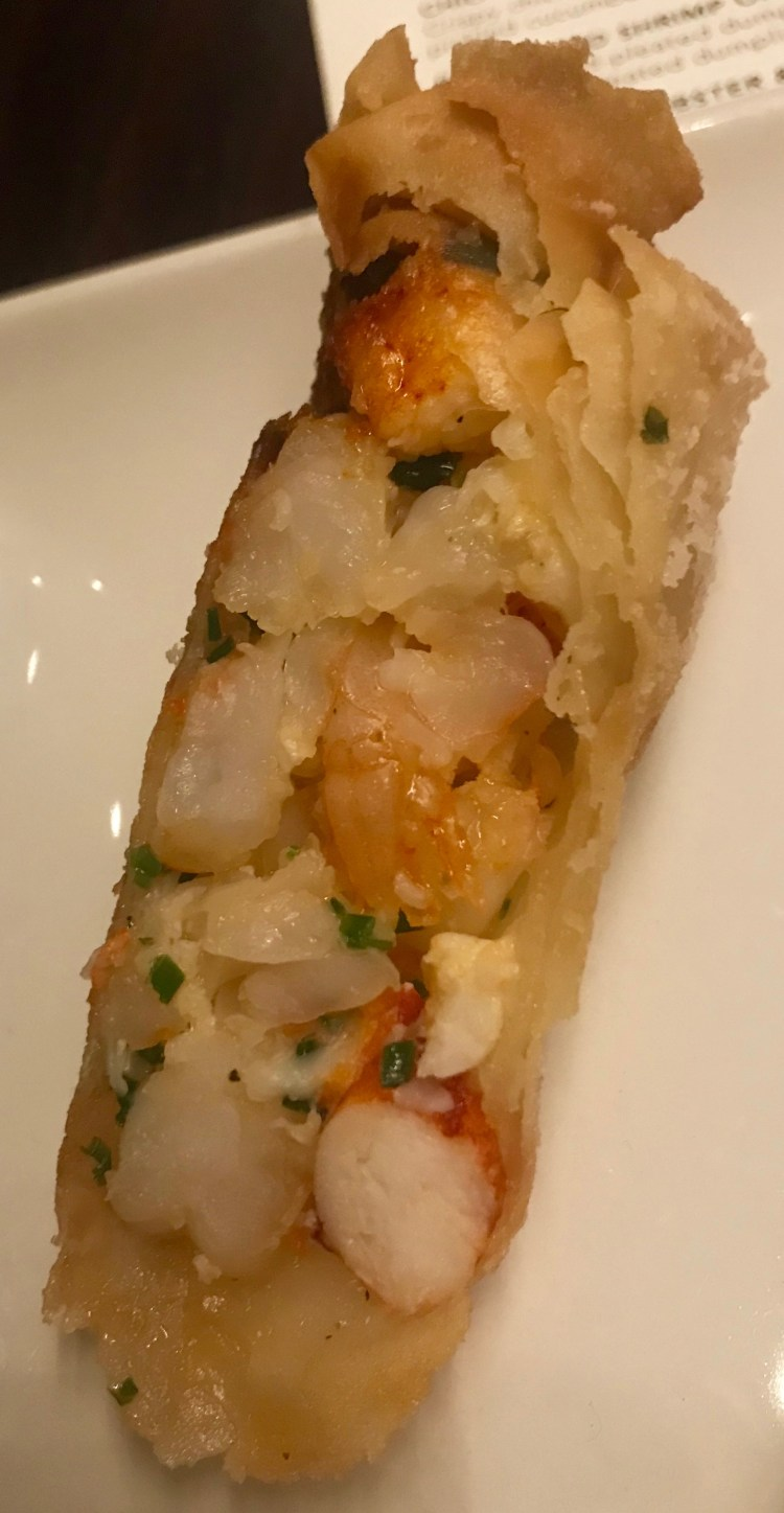 PF Changs: lobster and prawn spring roll