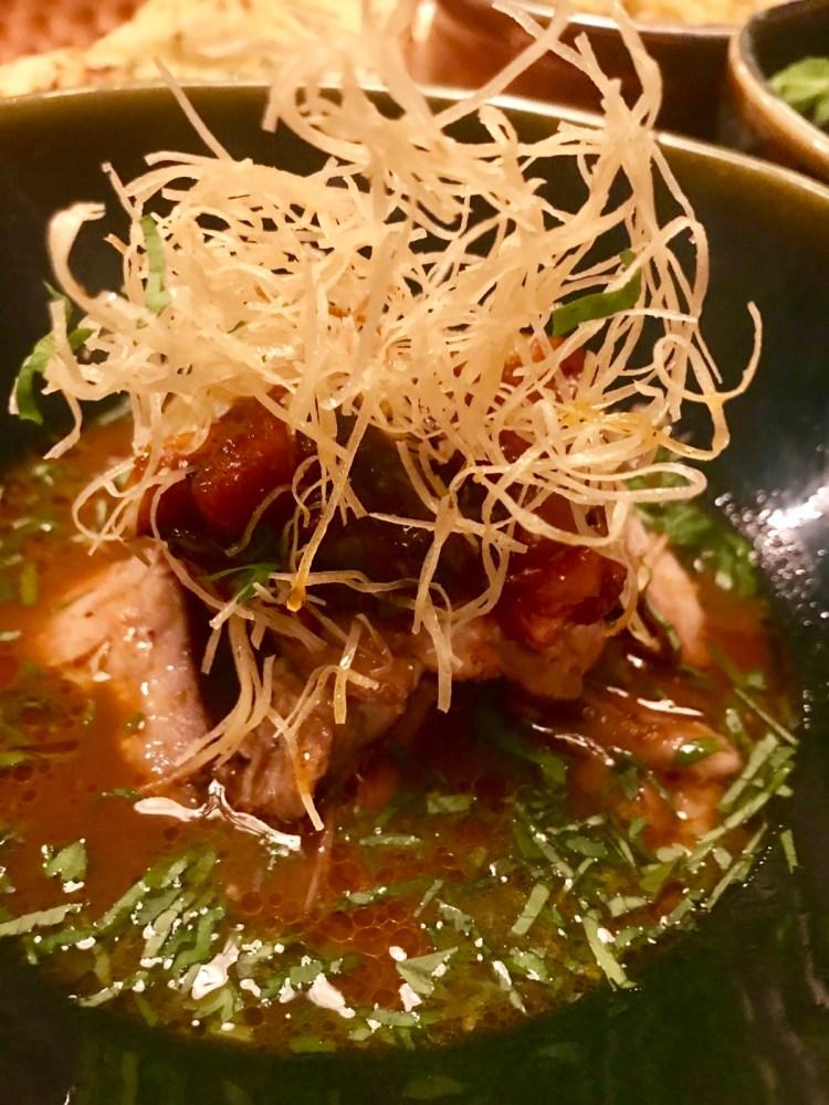 Thali: duck curry