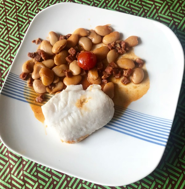Recipe: hake and beans