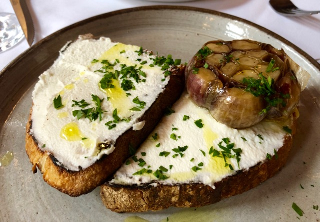 The French House: garlic toast