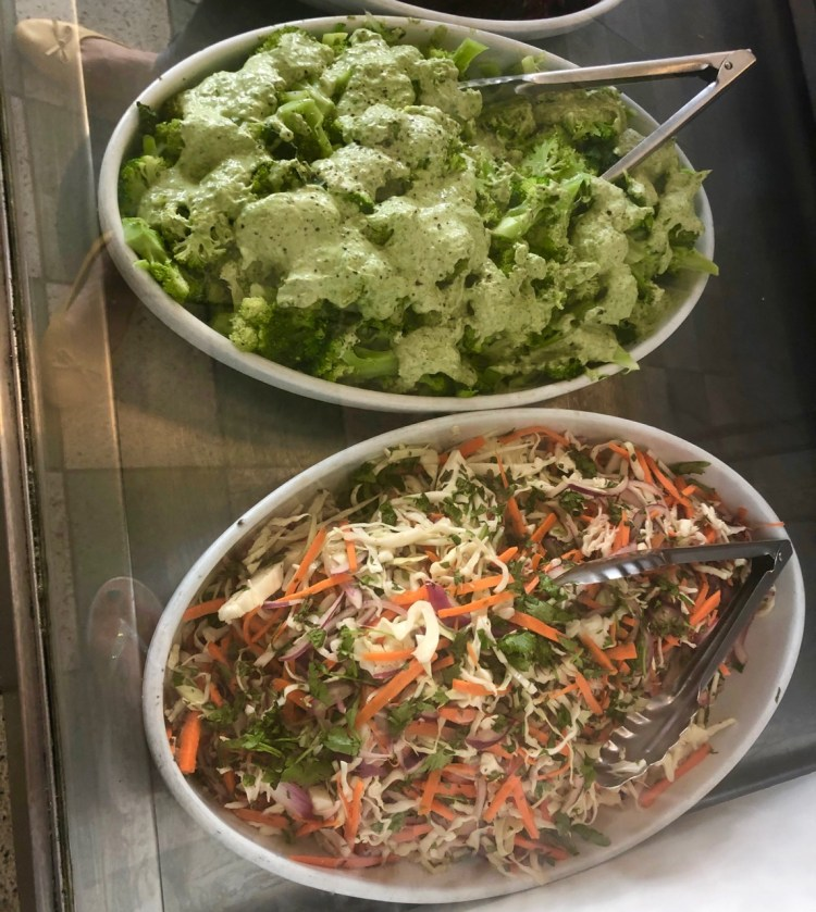 The Kitchen: salad counter