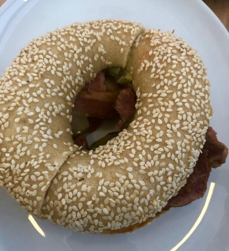 Kleinsky's: pastrami bagel