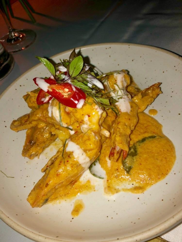 The Sarojin: king prawn curry