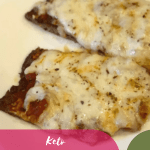 Keto Sausage Crust Pizza on a white plate