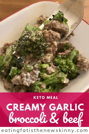 Keto beef and broccoli pin