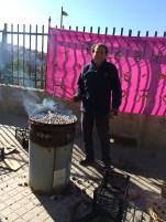 Our school security guard Luis roastin 'em up