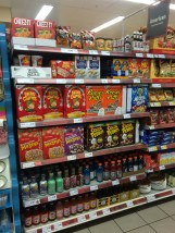 "This picture was actually taken when I visited England - the ""American food"" section of Tesco"