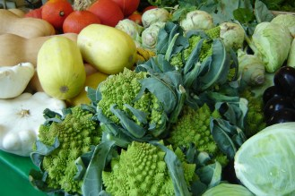 Romanesco broccoli - a type of green cauliflower