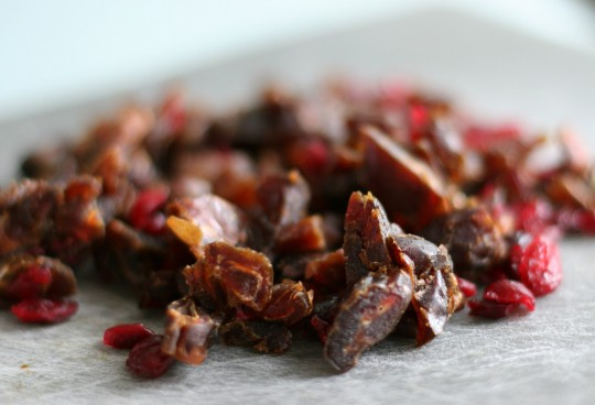 Chopped Dates and Cranberries