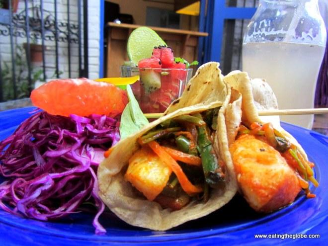 fish tacos at Lavanda cafe San Miguel de allende mexico