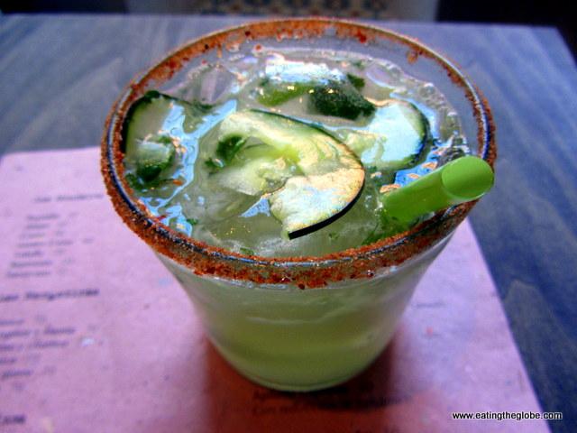 Cucumber and Mint Mezcal Margarita at La Mezcalería