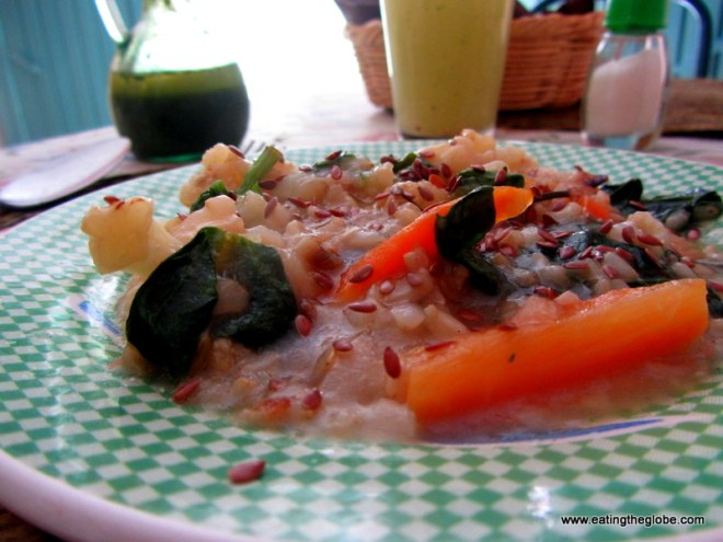 brown rice at NutriVerde vegetarian restaurant, San Miguel de Allende