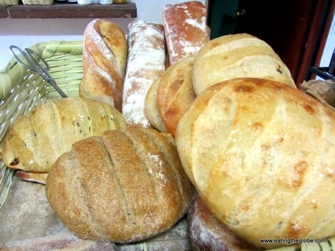 bread from La Buena Vida Bakery Restaurant in San Miguel de Allende