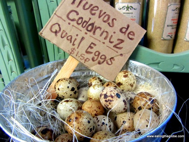 Quail eggs at Via Organica San Miguel de Allende