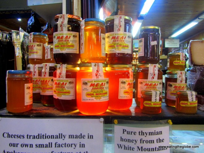 Thyme honey at the Chania Market