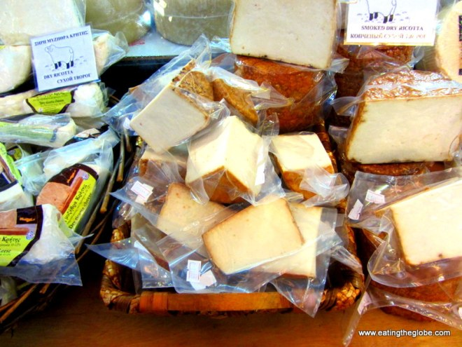 Cheese from the Chania market