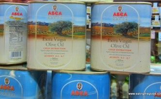 Greek olive oil at the Chania Market