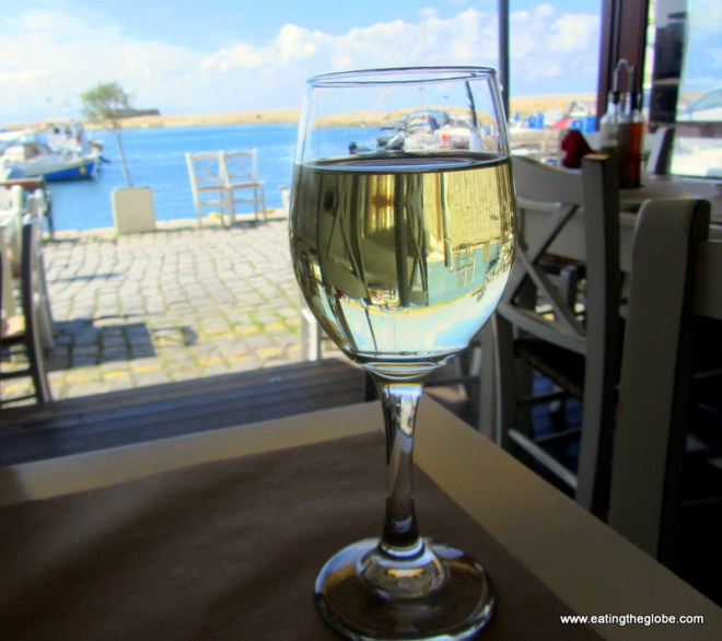 Wine from Glossitses Restaurant Chania
