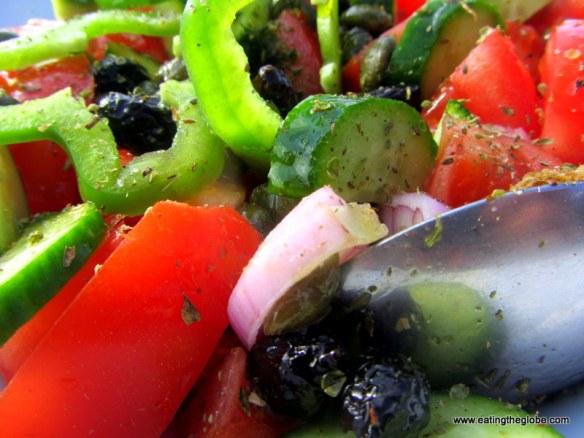 Greek salad from Koukouvaya Restaurant in Chania