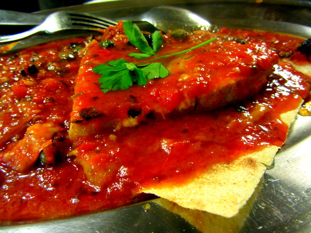 Swordfish in Tomato Sauce
