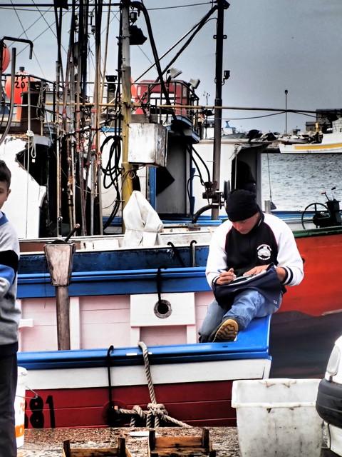 Fishing boat in port of Trapani