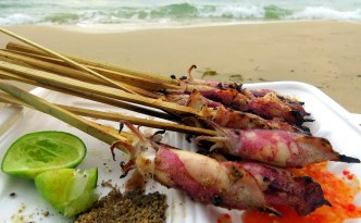 beach food Otres Beach, Cambodia
