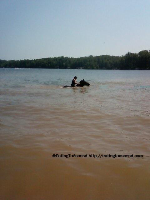SwimmingWithDevonInLakeAnna2011sm