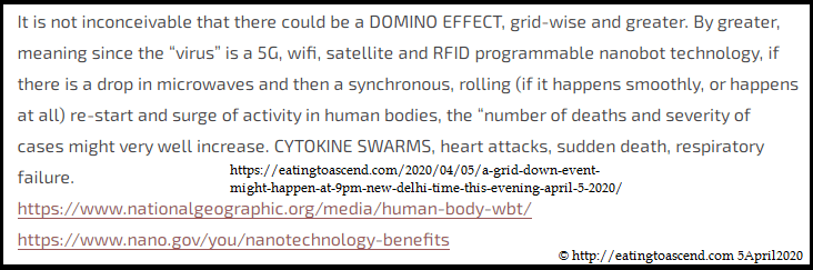 @EatingToAscend warns world 5G is Covid-19, not a virus on April 5, 2020