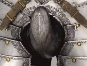 ARMOR OF EMPOROR FERDINAND CODPIECE DETAIL COD MEANS FISH